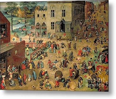 Children's Games Metal Print by Pieter the Elder Bruegel