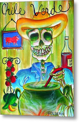 Chile Verde Metal Print by Heather Calderon