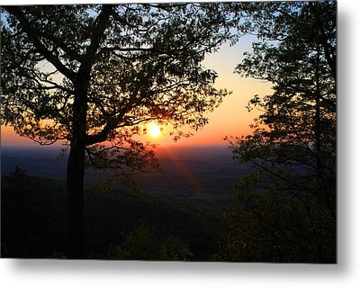 Metal Print featuring the photograph Chilhowee Sunset by Kathryn Meyer