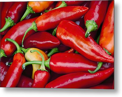 Chili Peppers Metal Print