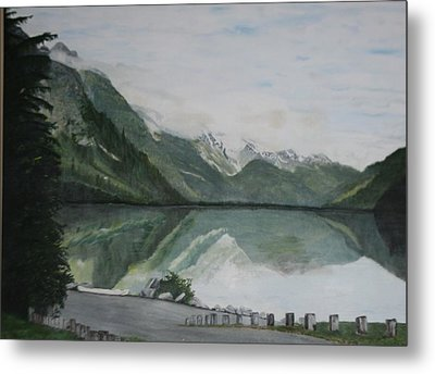Metal Print featuring the painting Chilkoot Lake Alaska by Betty-Anne McDonald