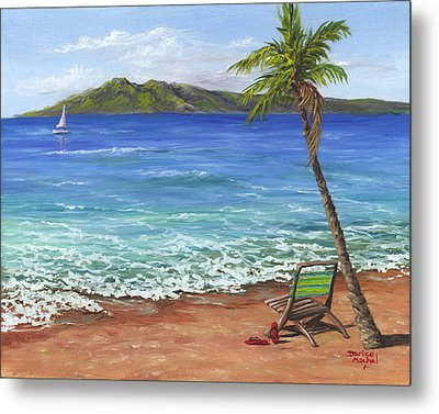 Chillaxing Maui Style Metal Print by Darice Machel McGuire