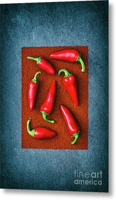 Chillies Metal Print by Tim Gainey