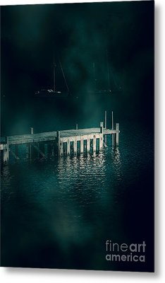 Chilling Wood Mooring Metal Print by Jorgo Photography - Wall Art Gallery