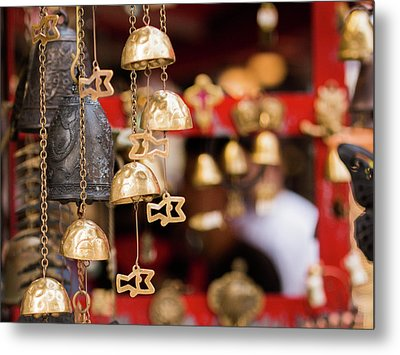 Chime Bell Metal Print