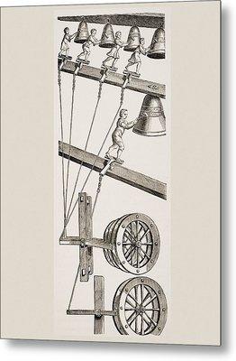Chimes Of The Clock Of St. Lambert In Metal Print