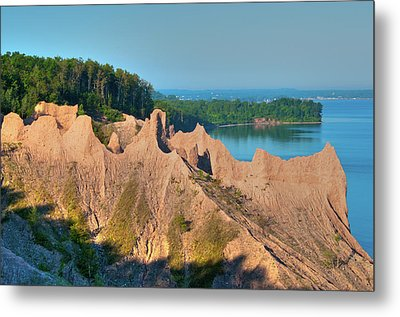 Chimney Bluffs 1750 Metal Print