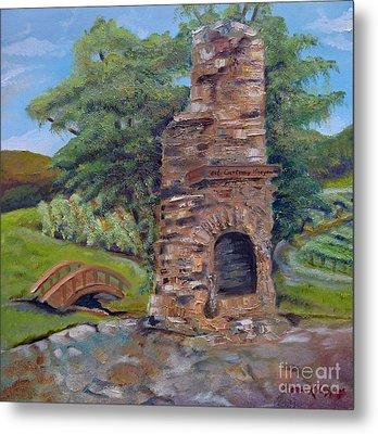 Chimney Love -cartecay Vineyards - Ellijay Ga Metal Print
