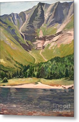 Chimney Pond At Katahdin Basin Metal Print by Stella Sherman