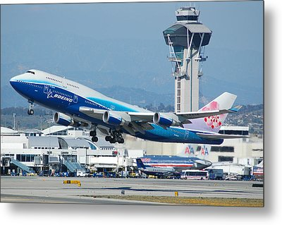China Airlines Boeing 747 Dreamliner Lax Metal Print by Brian Lockett