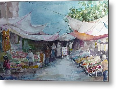 China Market Place Metal Print by Dorothy Herron
