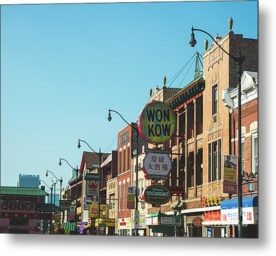 China Town Chicago Metal Print by Sonja Quintero