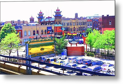 Chinatown Chicago 1 Metal Print by Marianne Dow