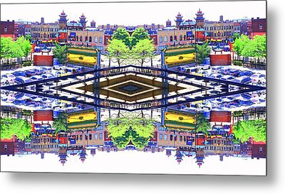Chinatown Chicago 3 Metal Print by Marianne Dow