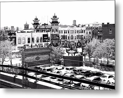 Chinatown Chicago 4 Metal Print by Marianne Dow