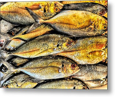 Chinatown Fish Market Nyc Metal Print by Steve Archbold