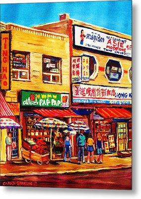 Chinatown Markets Metal Print by Carole Spandau
