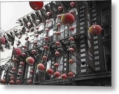 Chinatown San Francisco Metal Print by Larry Butterworth