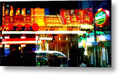 Metal Print featuring the photograph Chinatown Window Reflections 2 by Marianne Dow