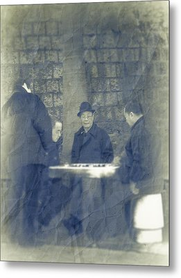 Chinese Chess Players Metal Print by Loriental Photography