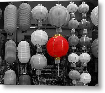 Chinese Lanterns Metal Print by Michael Canning