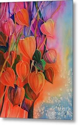 Chinese Lanterns Metal Print by Zaira Dzhaubaeva
