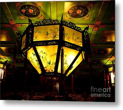 Chinese Latern Metal Print by Birgit Moldenhauer