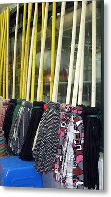 Chinese Rag Mops Metal Print by Lisa Boyd