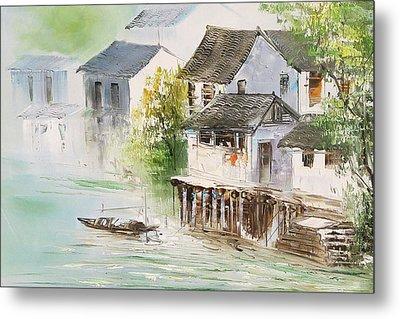 Chinese Village Metal Print