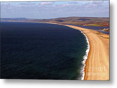 Metal Print featuring the photograph Chesill Beach Dorset by Baggieoldboy