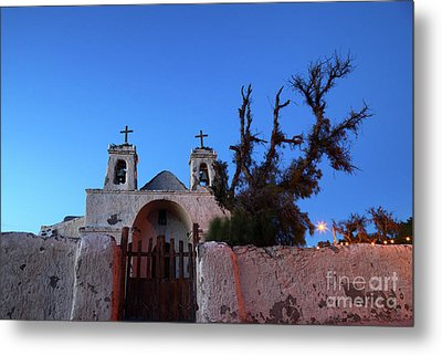 Chiu Chiu Church At Twilight Chile Metal Print by James Brunker