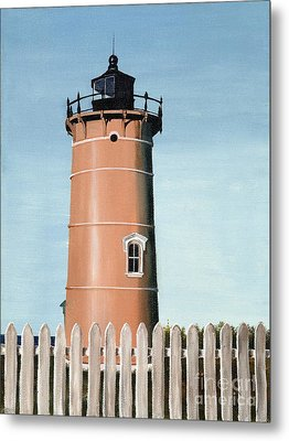 Chocolate Lighthouse Metal Print by Mary Rogers