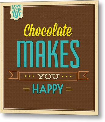Chocolate Metal Print by Naxart Studio