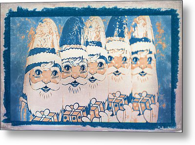 Metal Print featuring the photograph Chocolate Santas by Bellesouth Studio