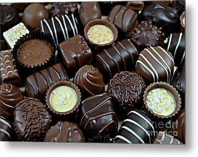 Metal Print featuring the photograph Chocolates by Vivian Krug Cotton