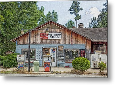 Choctaw Bluff Country Store Metal Print by Ericamaxine Price