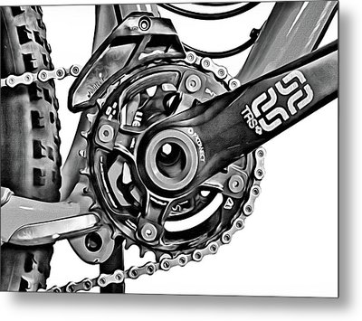 Metal Print featuring the digital art Choice Transport 1 Bw by Wendy J St Christopher