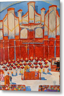 Choir And Organ Metal Print by Rodger Ellingson