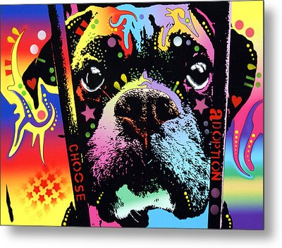 Choose Adoption Boxer Metal Print by Dean Russo