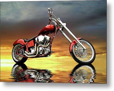 Chopper Metal Print by Steven Agius