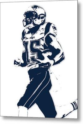 Chris Hogan New England Patriots Pixel Art Metal Print