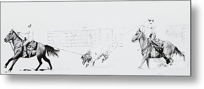 Chris Moore Suggie Horses Only Metal Print by Tracy L Teeter
