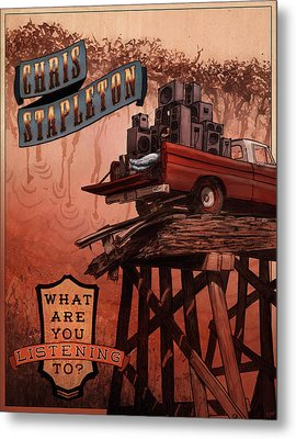 Chris Stapleton Poster Metal Print by Ethan Harris