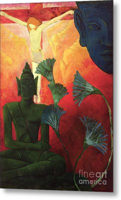Christ And Buddha Metal Print