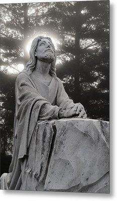Christ At Prayer Metal Print by Robert  Suits Jr