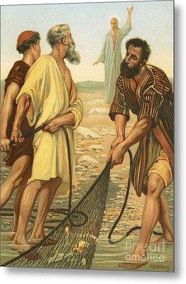 Christ Calling The Disciples Metal Print by Philip Richard Morris
