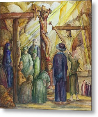 Christ Crucified Metal Print by Rick Ahlvers