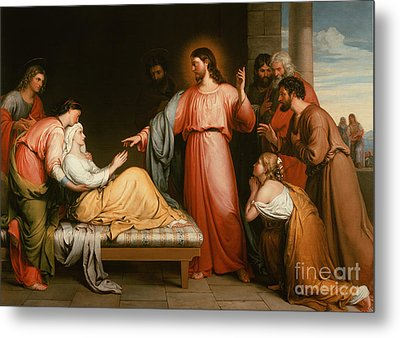 Christ Healing The Mother Of Simon Peter Metal Print