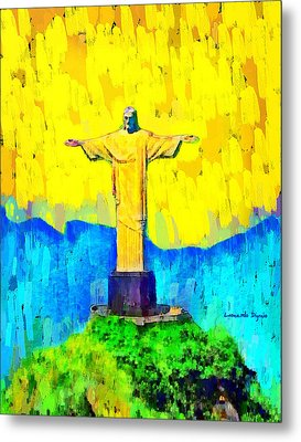 Christ In Rio 1 - Da Metal Print