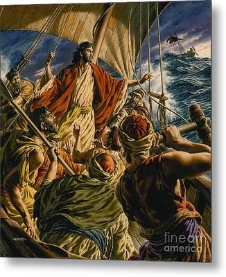 Christ On The Sea Of Galilee Metal Print